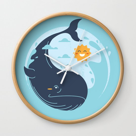 the great whale Wall Clock