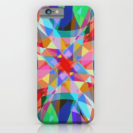 Multicolored Kaleidescope Abstract iPhone Case