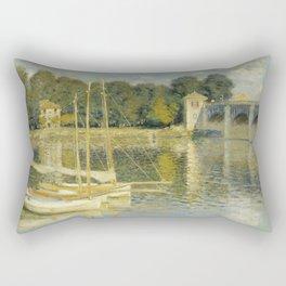 "Claude Monet ""The Argenteuil Bridge"" Rectangular Pillow"
