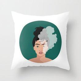 Fierce Woman - Smoking Joint Throw Pillow