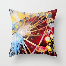 Spin the wheel Throw Pillow