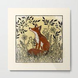 The Colney Fox Metal Print