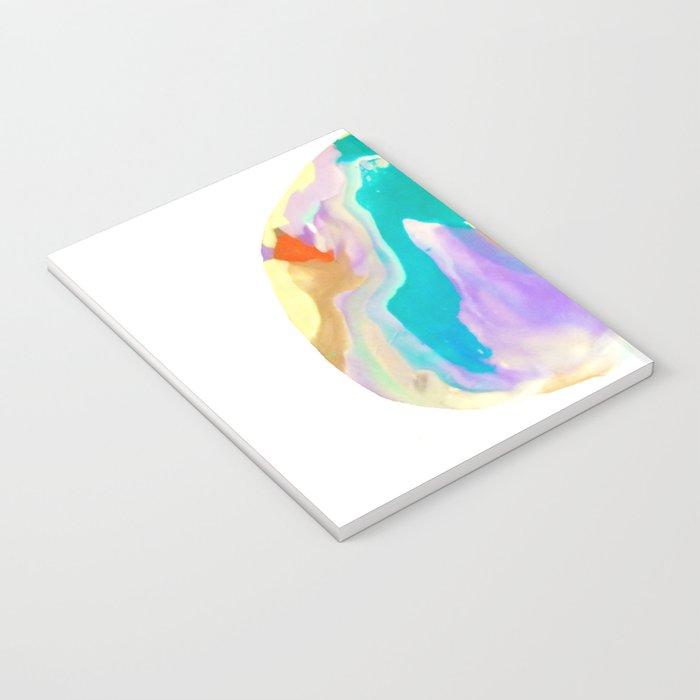 Deep Sea Colorful Surprises Marbling Notebook