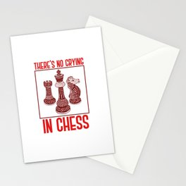 There's No Crying In Chess Stationery Cards