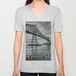 Astoria - Megler Bridge Unisex V-Neck