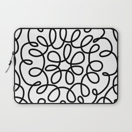 Hand drawn flower doodle circles Laptop Sleeve