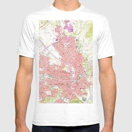 Vintage Map of Roanoke Virginia (1963) 2 T-shirt