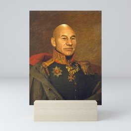 Sir Patrick Stewart - replaceface Mini Art Print