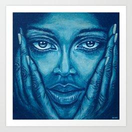 look at me-blue Art Print