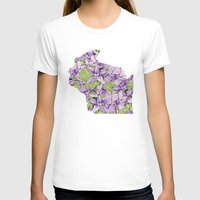 wisconsin T-shirts featuring Wisconsin in Flowers by Ursula Rodgers