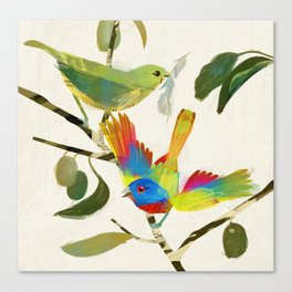 Painted Buntings Canvas Print