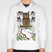 andreas preis Hoodies featuring Vibrant Jungle Owl and Snake by famenxt