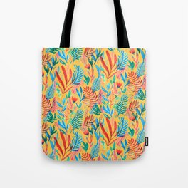 yellow tropical sunset Tote Bag