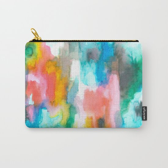 Paradise Watercolor Ikat Carry-All Pouch