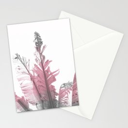Pink Banana Leaves Stationery Cards