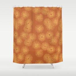 Orange Nasturtium Seamless Patten Shower Curtain