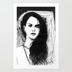 portrait of Lana Art Print