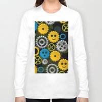 gears of war Long Sleeve T-shirts featuring Happy Gears by WIGEGA