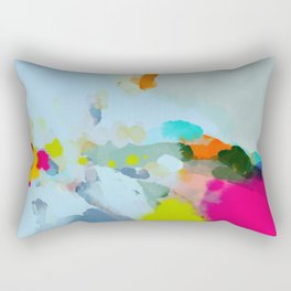 pink hill with sun ray Rectangular Pillow
