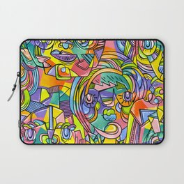 Colourful Faces Laptop Sleeve