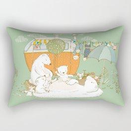 Happy Camping Bears Rectangular Pillow