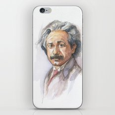 Albert Einstein Watercolor Portrait iPhone & iPod Skin