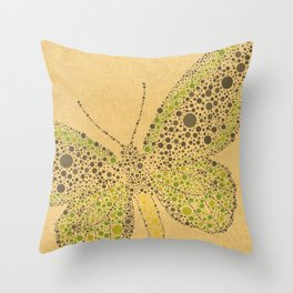 Dotti Butterflies from Charlotte Flowers Throw Pillow