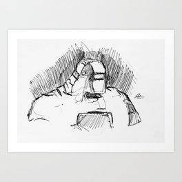 Warbot Sketch #010 Art Print