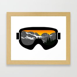Sunset Goggles 2 | Goggle Designs | DopeyArt Framed Art Print
