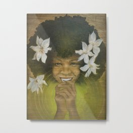 Laughing From My Heart Center Metal Print
