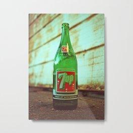 Nostalgic 7up bottle Metal Print