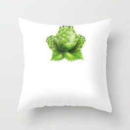 Don't Worry Be Hoppy Home Brewing Craft Beer Throw Pillow