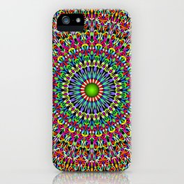 Happy Garden Mandala iPhone Case