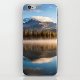 Broken Top Mountain Reflection at Sparks Lake iPhone Skin