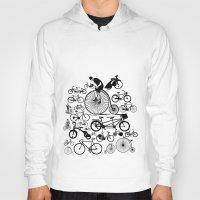 bicycles Hoodies featuring Bicycles by Ewan Arnolda