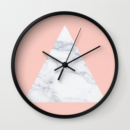Blush marble triangle Wall Clock