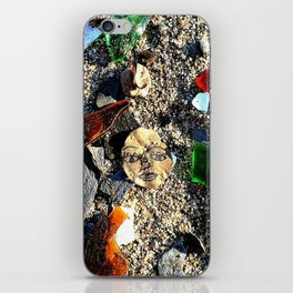 Lady in the Sand iPhone Skin