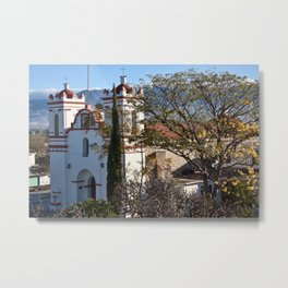 Historic Church Guadalupe Etla, Mexico Metal Print