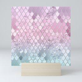 Mermaid Glitter Scales #2 #shiny #decor #art #society6 Mini Art Print