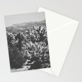 Chollo Cactus Garden (Black + White) Stationery Cards