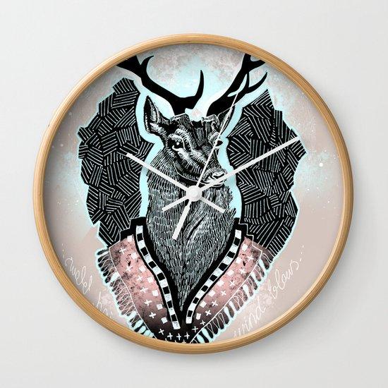 Wind:::Deer Wall Clock