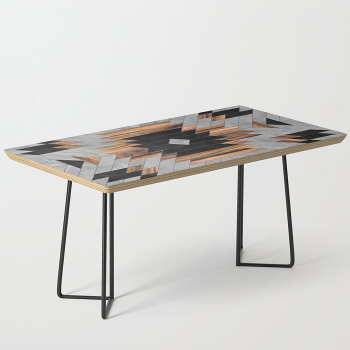 Urban Tribal Pattern No.6 - Aztec - Concrete and Wood Coffee Table