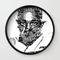 kendrick lamar Wall Clocks featuring King Kendrick  by Tyvenchy