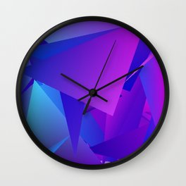 Rhapsody in Blue 3 Wall Clock