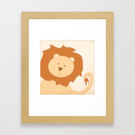 Lion Jungle Series Print Framed Art Print