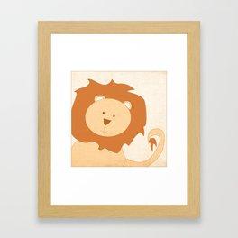 Lion Jungle Series Print Framed Art Print