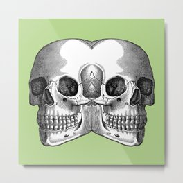 Double Trouble / PASTEL GREEN Metal Print