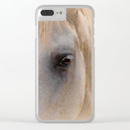 White Horse Head Clear iPhone Case