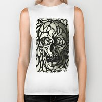 david Biker Tanks featuring Skull by Ali GULEC