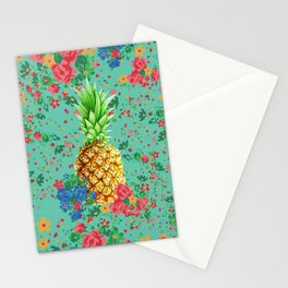 Floral Pineapple Stationery Cards